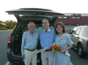 Stan, Andy, and Ellen McDonald on an outing from Andy's group home in 2012.