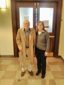 Stan and Ellen outside a probate courtroom where they encountered yet another round of frustration and disappointment last week.
