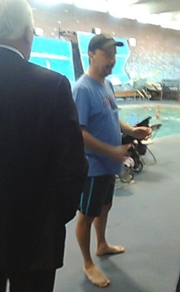 Peter Cutting at WDC pool