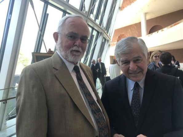 Ed O. and Dukakis at Tauro service